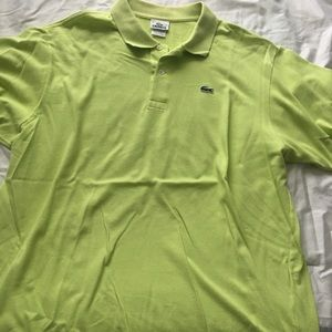 Lime green men's Lacoste polo